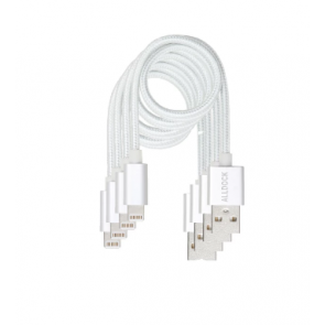 Alldock 4 Cable Value Pack Apple White