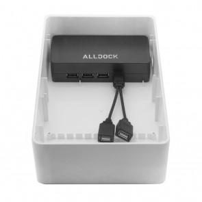 Alldock USB-A Cable Splitter Black