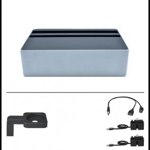 AllDock Wireless Aluminium Silver & Black Package