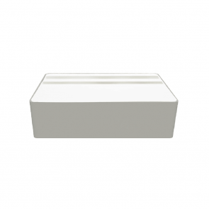 AllDock Wireless Aluminium Silver & White