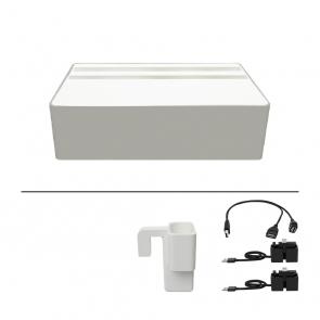 AllDock Wireless Aluminium Silver & White Package