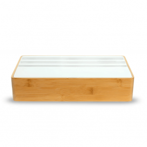 AllDock Wireless Family Bamboo & White