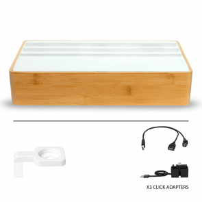 AllDock Wireless Family Bamboo & White Package