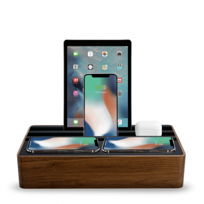 AllDock Wireless Family Walnut & Black
