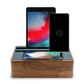 AllDock Wireless Walnut & Black