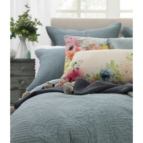 Allegra Bluestone Bedspread Set  by MM Linen