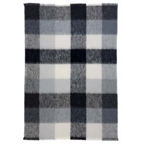 Checkers Alpaca Throw Blanket by St Albans