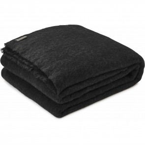 Alpaca Coal Throw Blanket