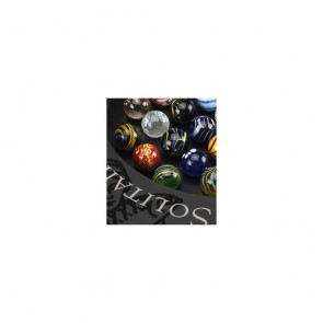 Solitaire 25mm Di Venezia Marbles Game by AM Living