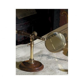 Magnifying Glass with Brass Finial Stand by AM Living