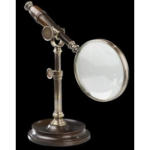 Magnifying Glass with Bronzed Finial Stand by AM Living