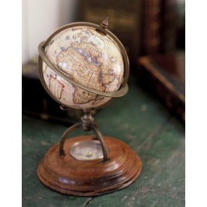 Terrestrial Globe with Compass by AM Living