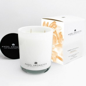 470g Glass Candle Amber Patchouli