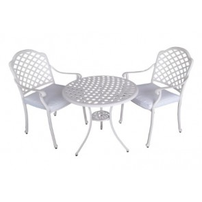 Andrea 3-Piece Outdoor Dining Set, White