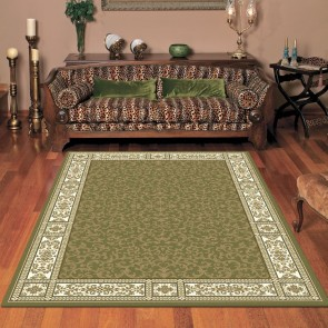 Aziz Anima Green Rug by Saray Rugs