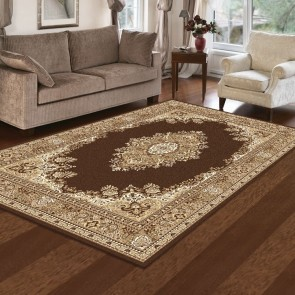 Aubusson Anima Brown Rug by Saray Rugs