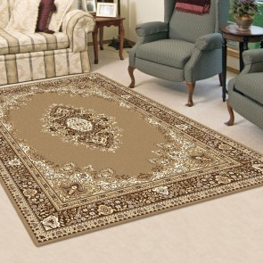 Aubusson Anima Beige Rug by Saray Rugs