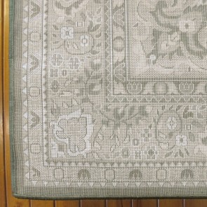 Aubusson Anima Green Rug by Saray Rugs