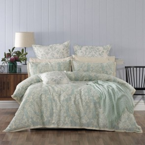 Aria Quilt Cover Set Green