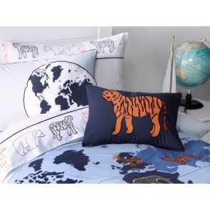 Whimsy Animal Atlas 30 x 45cm Filled Cushion