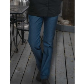 Womens Indigo Blue Modern 539 Constructed Pants by Chef Works
