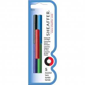 Sheaffer Assorted Skrip Ink Cartridges (5/Card)
