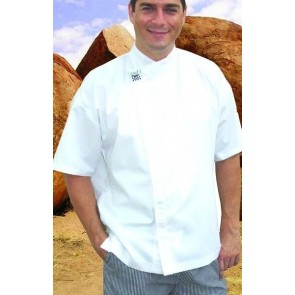 CR Modern White Short Sleeve Chef Jacket by Global Chef