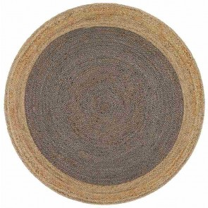 Atrium Polo Charcoal Round By Rug Culture