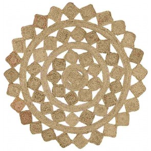 Atrium Tessellate Natural Round By Rug Culture