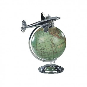 Globe with Plane by AM Living