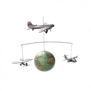 Globe and Plane Mobile by AM Living
