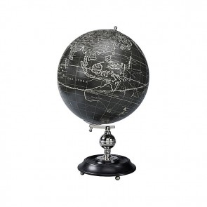 Vaugondy 1745 Noir Globe with Stand by AM Living