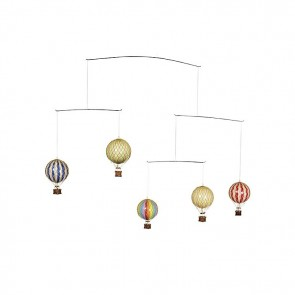 Hot Air Bright Balloon Mobile by AM Living