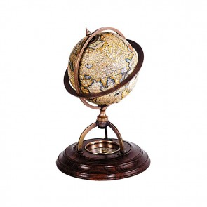 Mercator Globe with Compass by AM Living