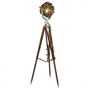 Coast Guard Patrol Spotlight Tripod Floor Lamp by AM Living