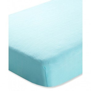 Aden and Anais Azure Solid Aqua Bamboo Cot Sheet