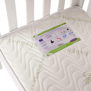 Babyhood Breathe Eze TM Organic Bamboo Innerspring Mattress