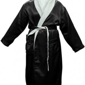 Bambury Satin Plush Black Robe