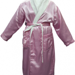 Bambury Satin Plush Pink Robe