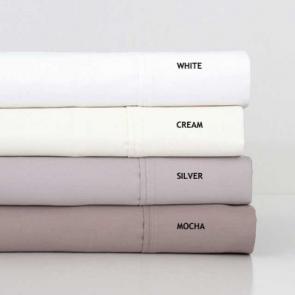 Bambury 1000TC Cotton Rich King White Sheet Set
