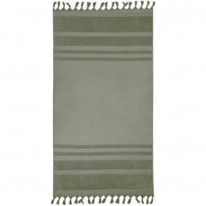 Bambury Aurora Beach Towel Moss