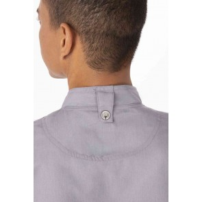 Springfield Mens Grey Zipper Chef Jacket by Chef Works