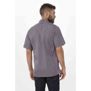 Springfield Mens Purple Zipper Chef Jacket by Chef Works