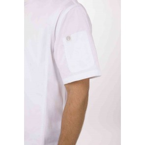 Springfield Mens White Zipper Chef Jacket by Chef Works