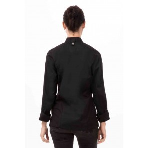 Black Hartford Womens Zipper Chef Jacket by Chef Works