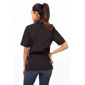 Springfield Womens Black Zipper Chef Jacket by Chef Works
