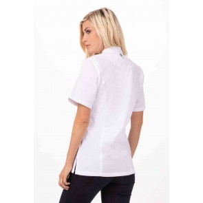 Springfield Womens White Zipper Chef Jacket by Chef Works