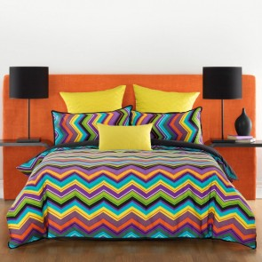 Bianca Chevron Quilt Cover Set