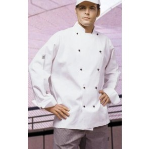CR Classic White Long Sleeve Chef Jacket by Global Chef