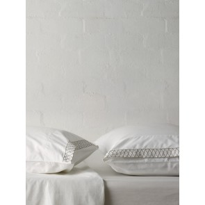 Belle Pillowcase Tailored Pair by Linen and Moore